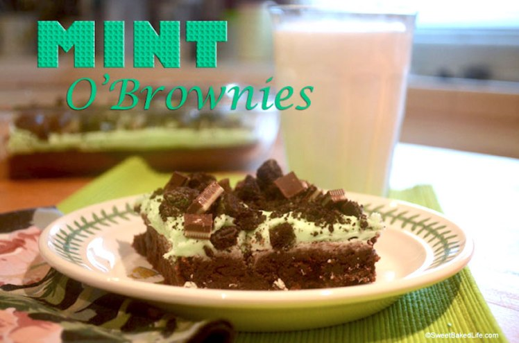 Mint Brownies @sweetbakedlife