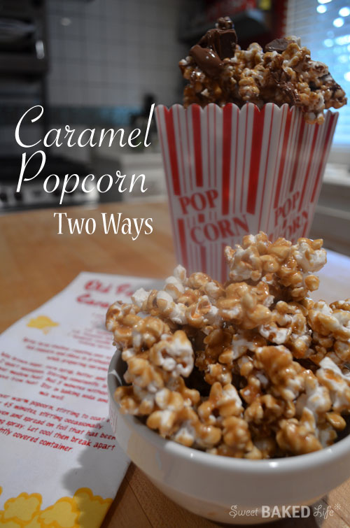 Recipe: Caramel popcorn – two ways