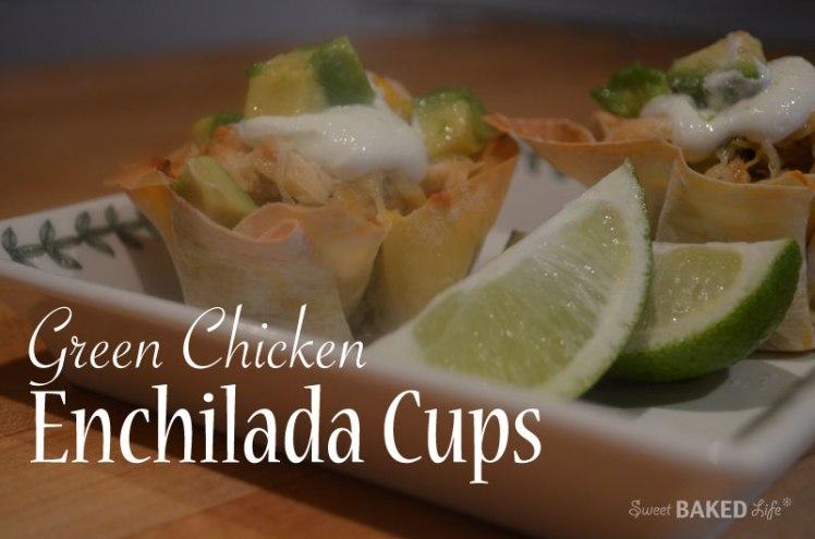 Green Chicken Enchilada Cups