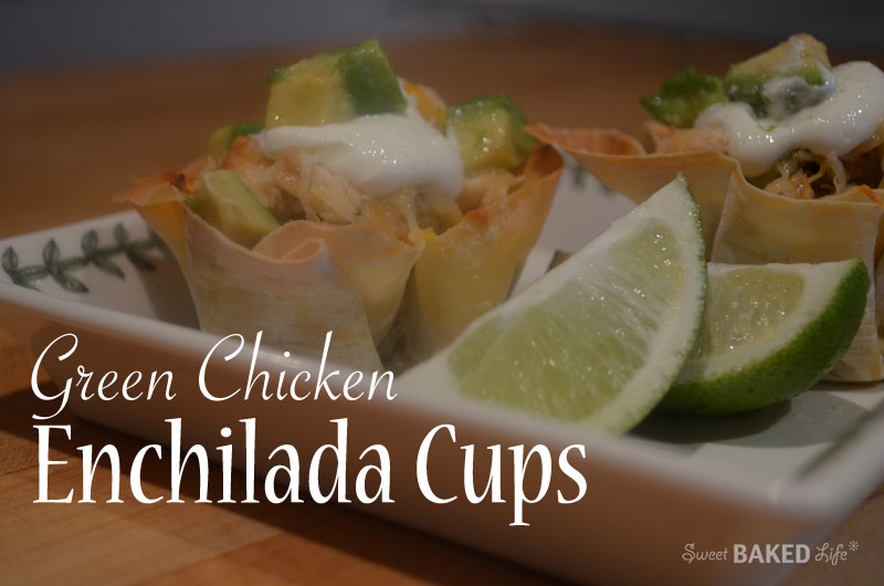 Green Chicken Enchilada Cups