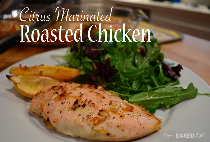 Citrus Marinated Roasted-Chicken