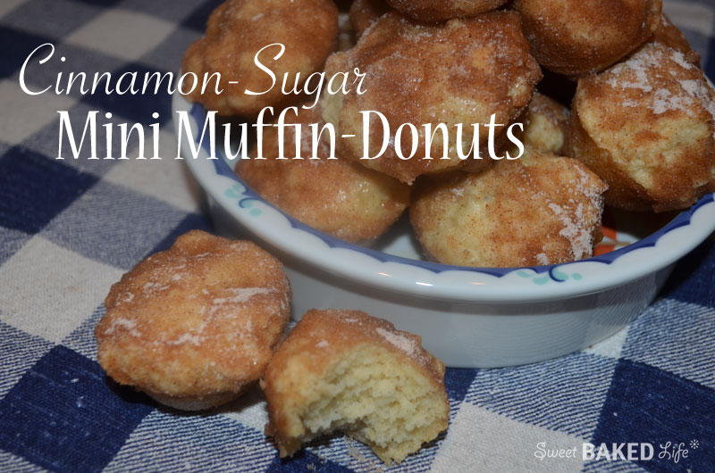Cinnamon-Sugar Mini Muffin-Donuts