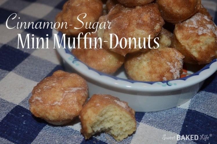 Cinnamon-Sugar Mini Muffin-Donuts