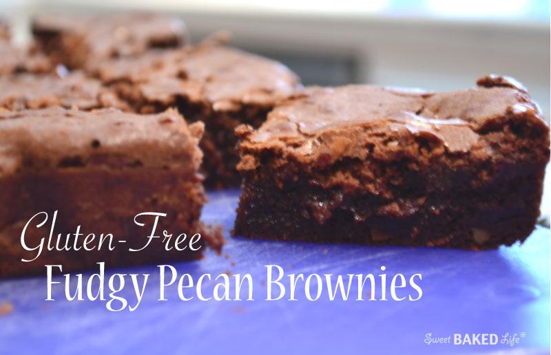 Gluten-Free Fudgy Pecan Brownies | Sweet Baked Life