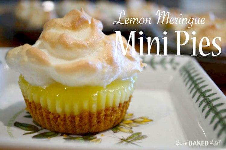 Lemon Meringue Mini Pies @sweetbakedlife