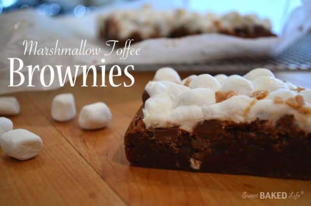 Recipe: Marshmallow toffee brownies