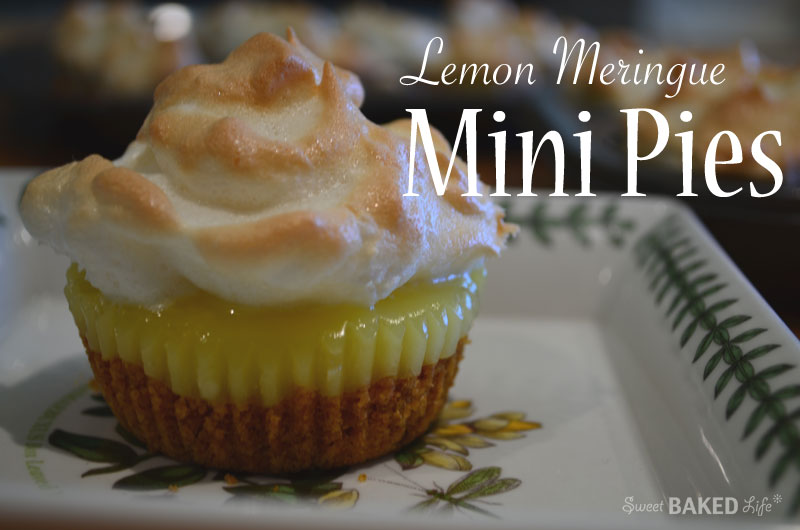 Lemon Meringue Mini Pies with Graham Cracker Crust
