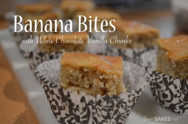 Banana Bites with White Chocolate
