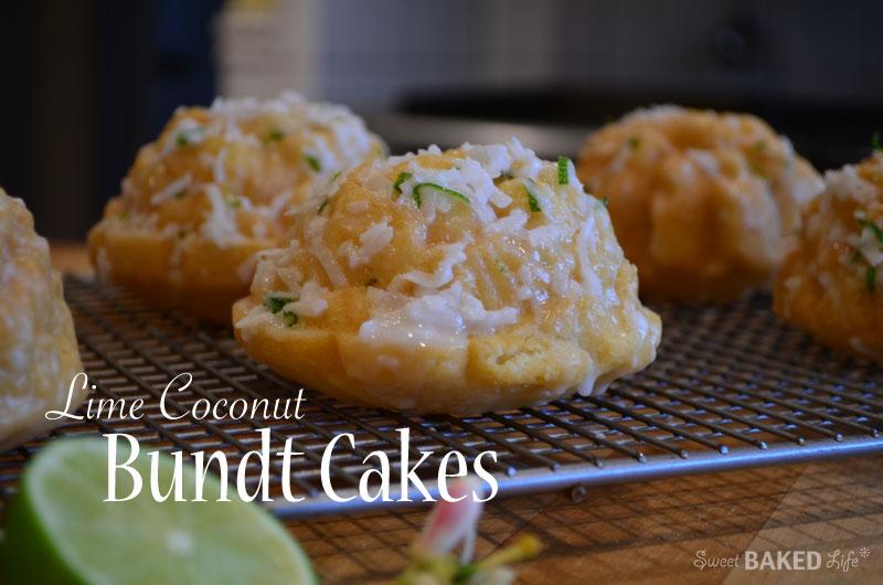 Lime Coconut Bundt Cakes