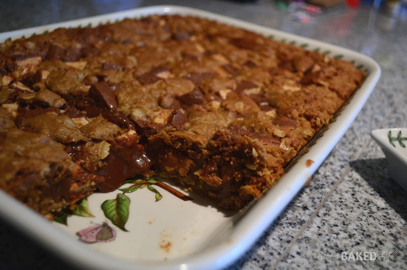 Fudgy Snickers Squares-1