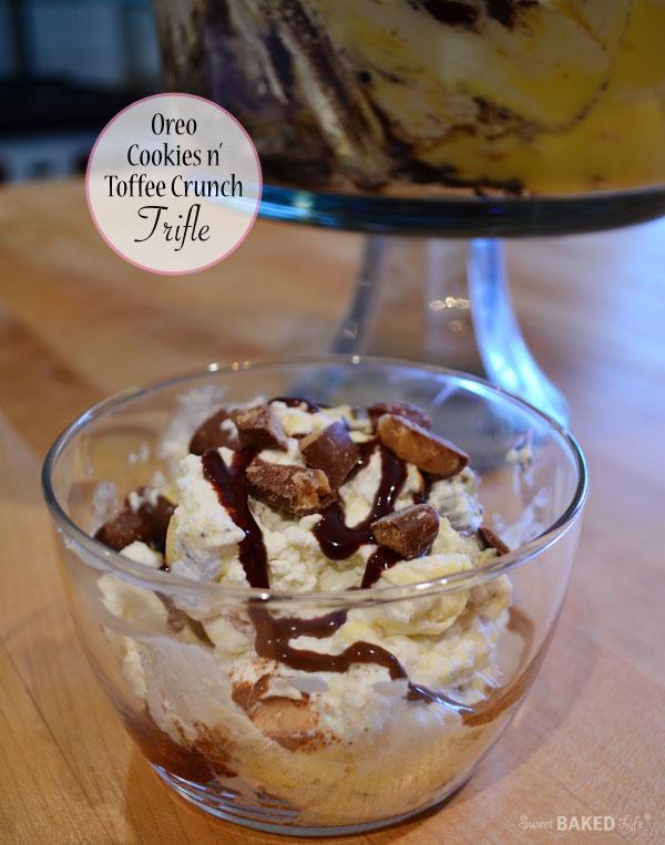 Oreo Cookies n' Toffee Crunch Trifle Serving