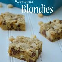 Milk Chocolate Macadamia Blondies