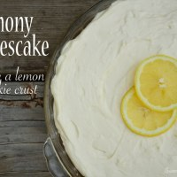Lemony Cheesecake {with a lemon cookie crust}