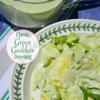 Classic Green Goddess Dressing {served over fresh greens}