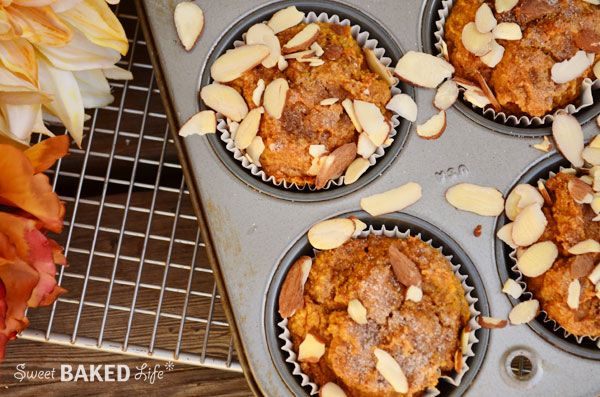 Cinnamon Sugar Almond Pumpkin Muffin 1