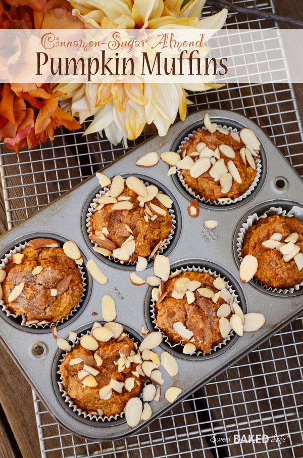 Cinnamon Sugar Almond Pumpkin Muffins {gluten-free}