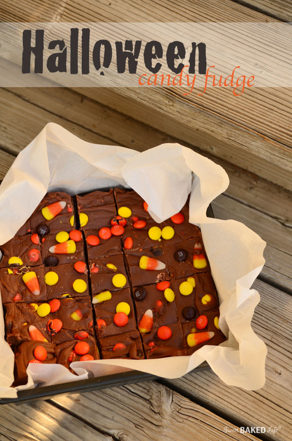Halloween Candy Fudge