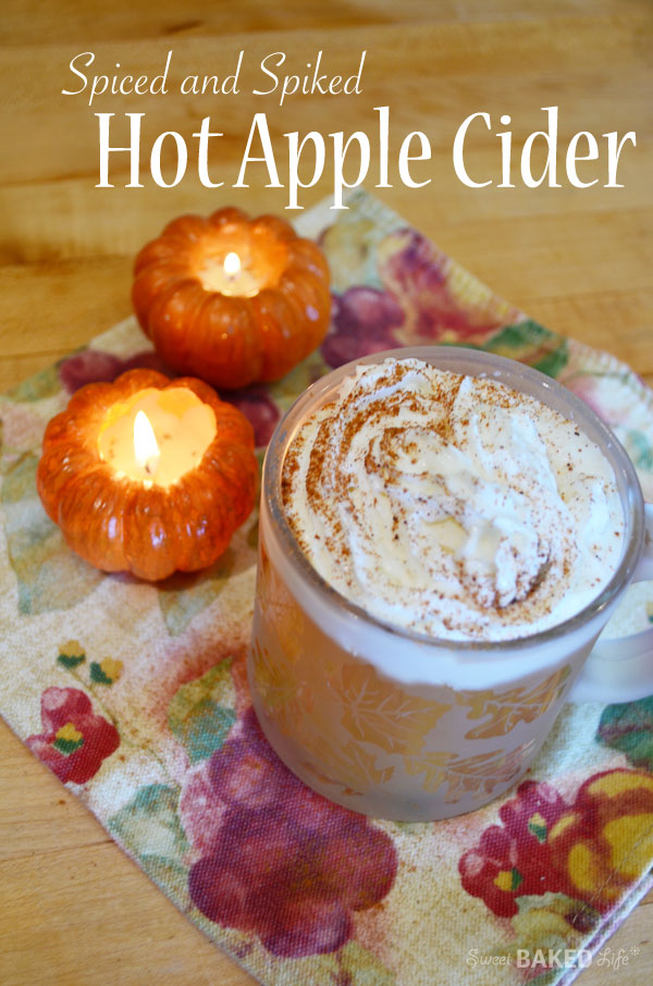 Spiced and Spiked Hot Apple Cider