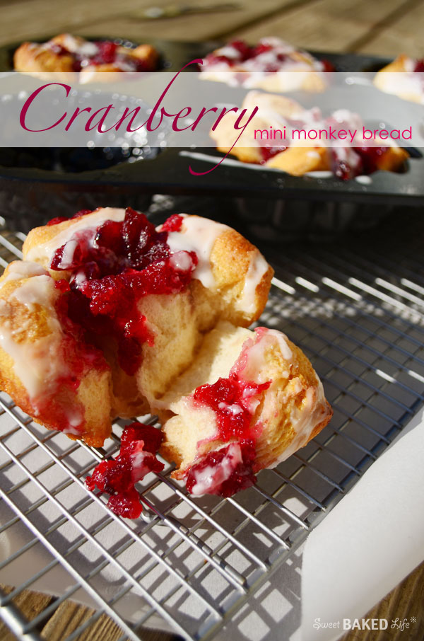 Cranberry Mini Monkey Bread