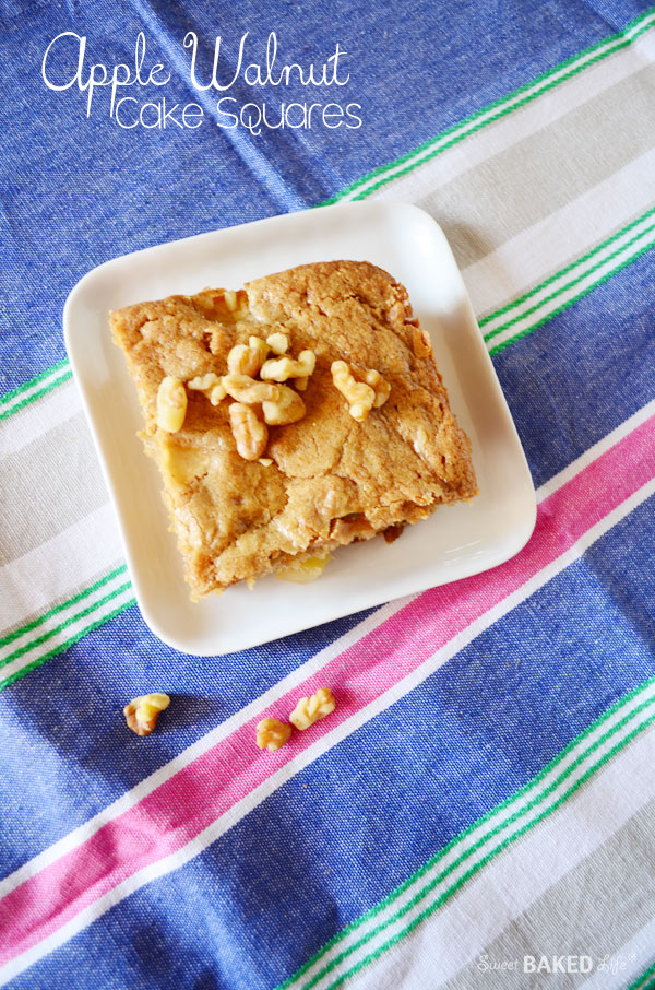 Apple Walnut Cake Squares