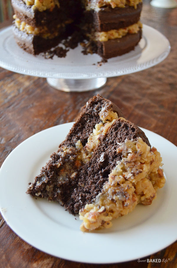 German Chocolate Cake {with Coconut Pecan Frosting} | Sweet Baked Life