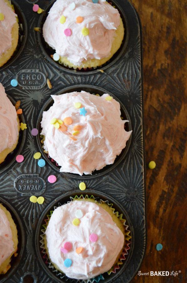 Pretty Honey Cupcakes