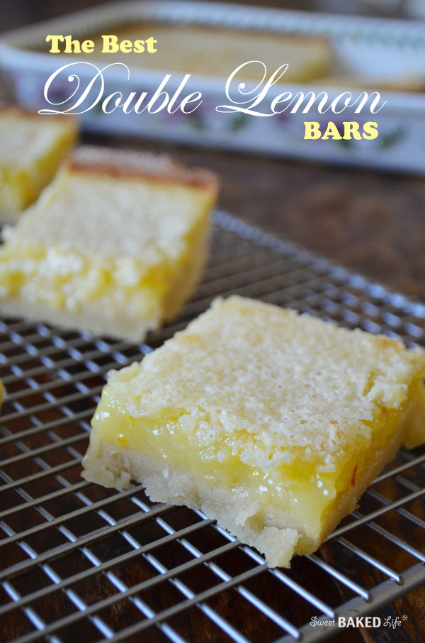 The Best Double Lemon Bars