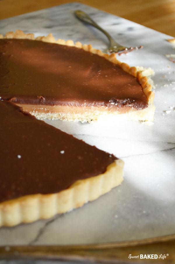 Chocolate Caramel Twix Tart