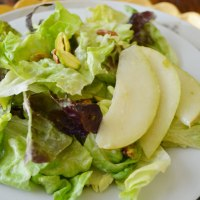 Pear and Pistachio Salad {with Pear Vinaigrette}