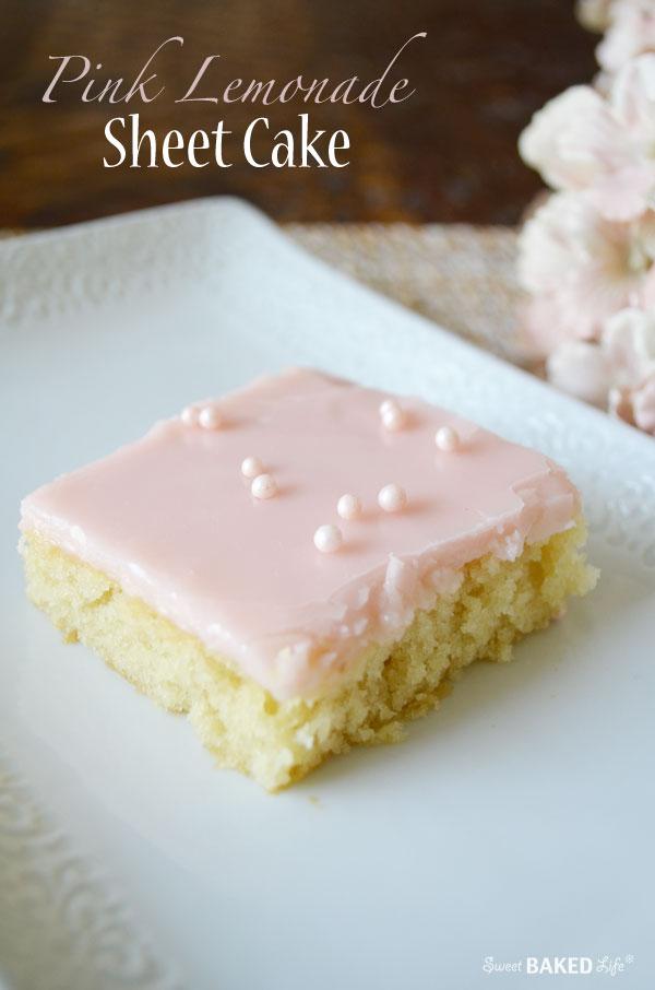 Pink Lemonade Sheet Cake