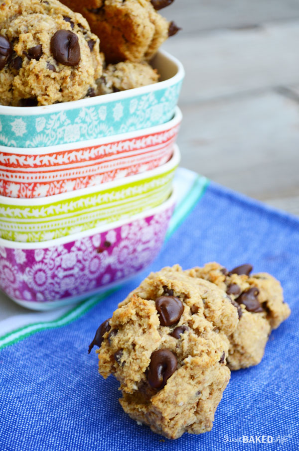 Peanut Butter Banana Chocolate Chip Cookies {gluten-free}