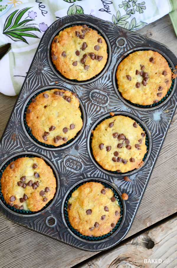Banana Oat Chocolate Chip Muffins