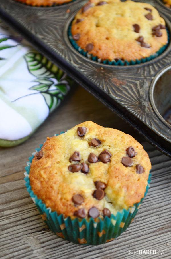 Banana Oat Chocolate Chip Muffins