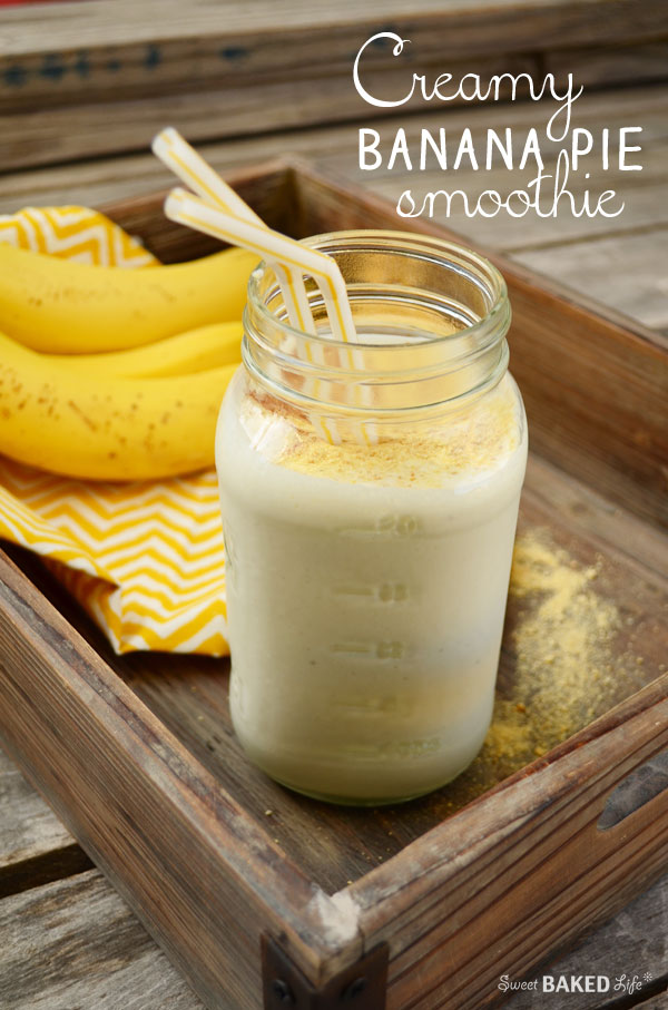 Creamy Banana Pie Smoothie