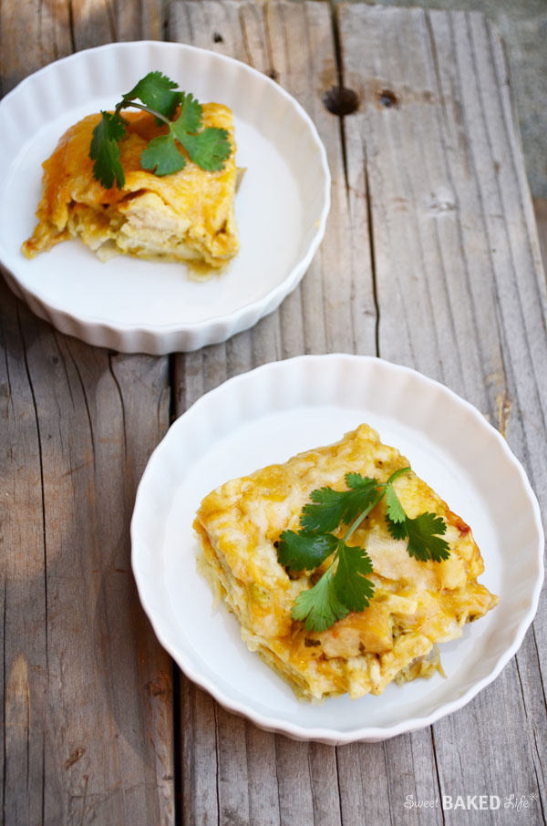 A great, quick dinner! Cheesy Chicken Tortilla Squares | Sweet Baked Life