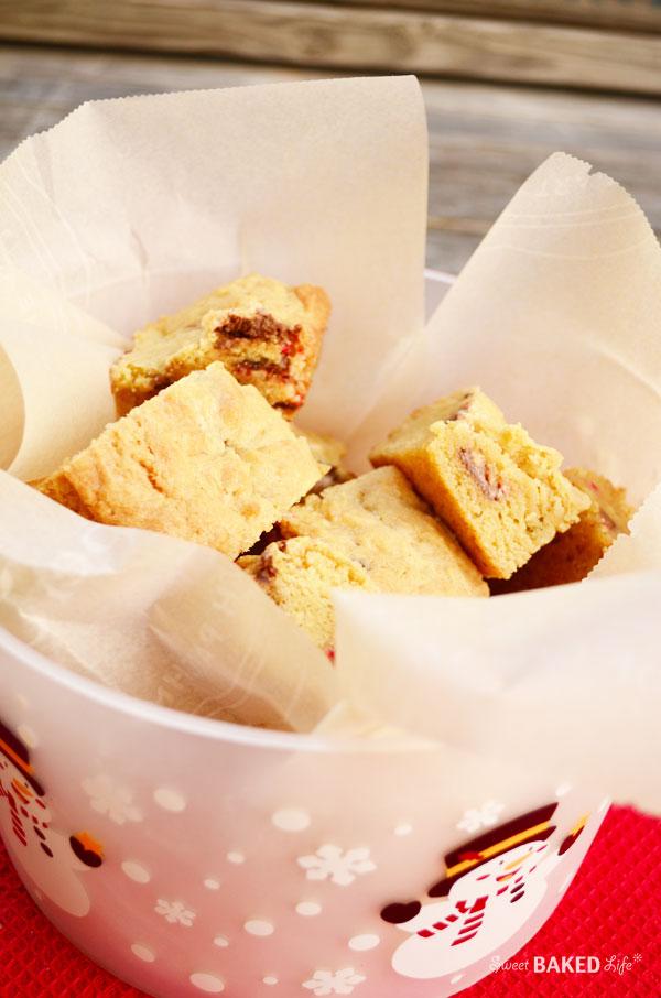 Peppermint Bark Blondies