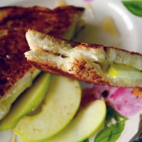 Grilled Brie, Apple and Honey Sandwich