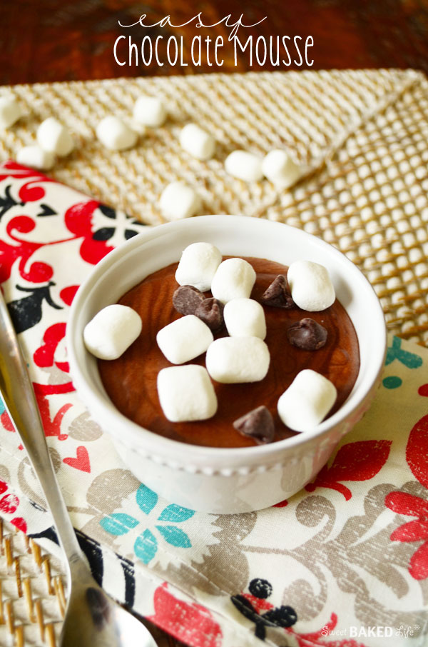 Easy Chocolate Mousse - no baking required and no eggs!