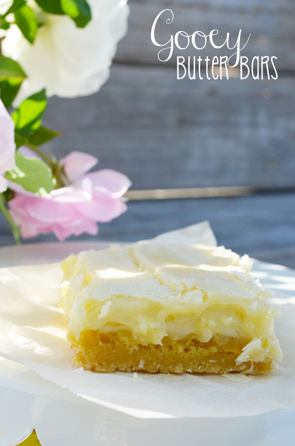 Gooey Butter Bars | Sweet Baked Life