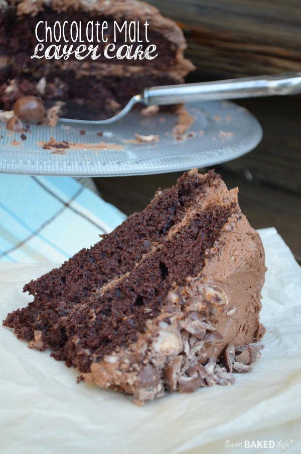 Chocolate Malt Later Cake | Sweet Baked Life