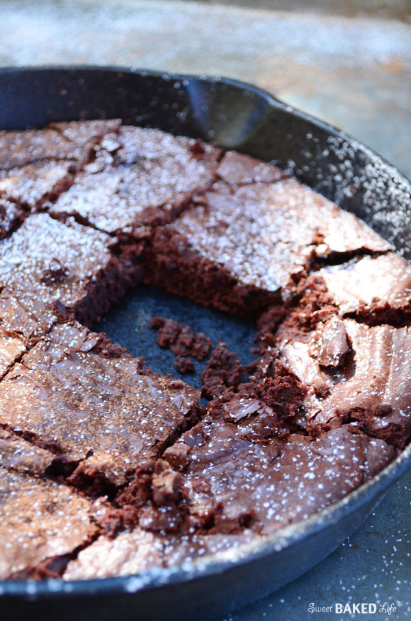 Skillet Cocoa Brownies | Sweet Baked Life