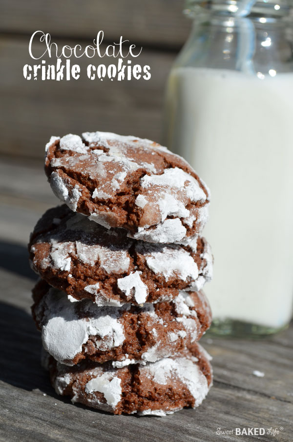 Chocolate Crinkle Cookies | Sweet Baked Life