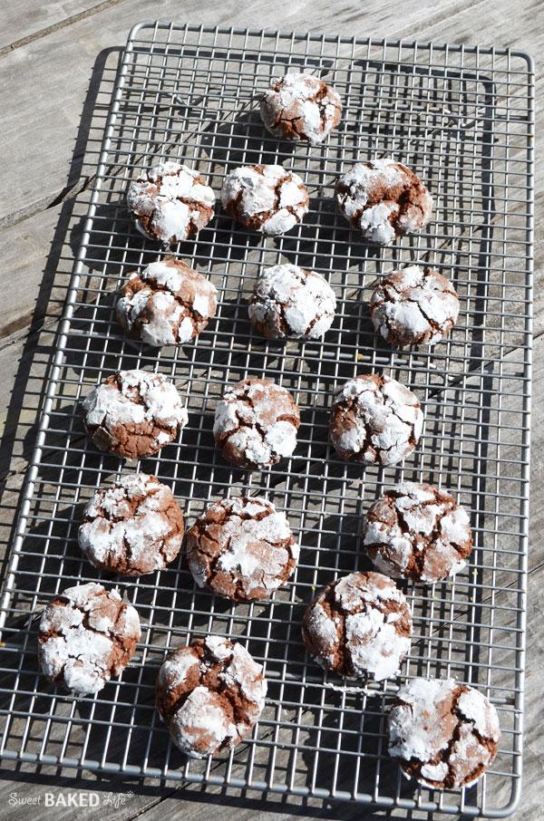 Chocolate Crinkle Cookies | Sweet Baked Life