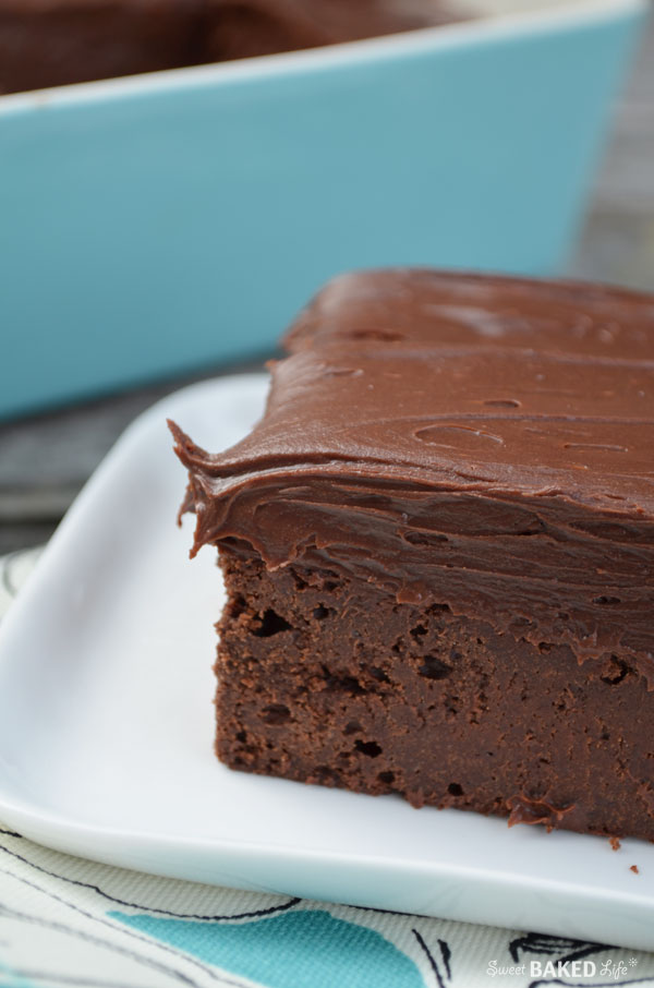 Cold Chocolate Fudge Cake | Sweet Baked Life