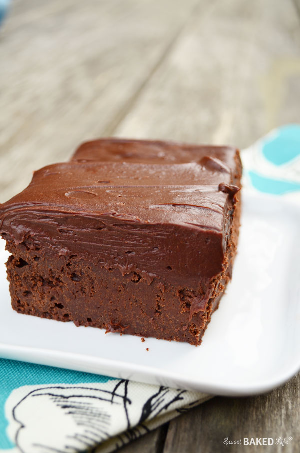 Cold Chocolate Fudge Cake | Sweet Baked Life