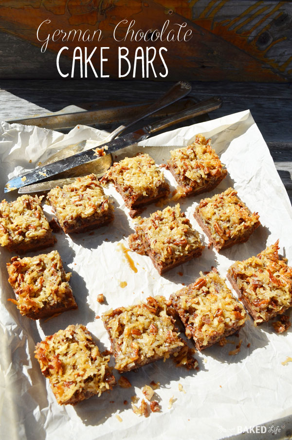 German Chocolate Cake Bars | Sweet Baked Life