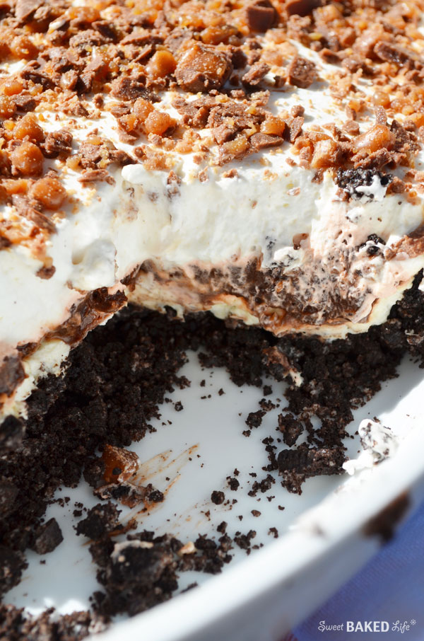Oreo Toffee Layered Dessert | Sweet Baked Life