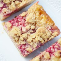Lemon Raspberry Oat Crumble Bars