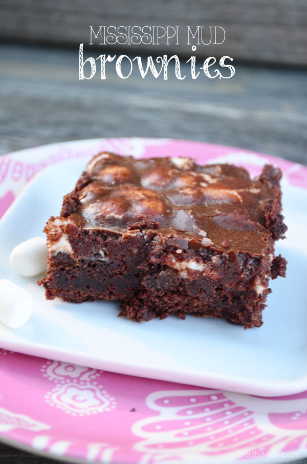 Mississippi Mud Brownies | Sweet Baked Life