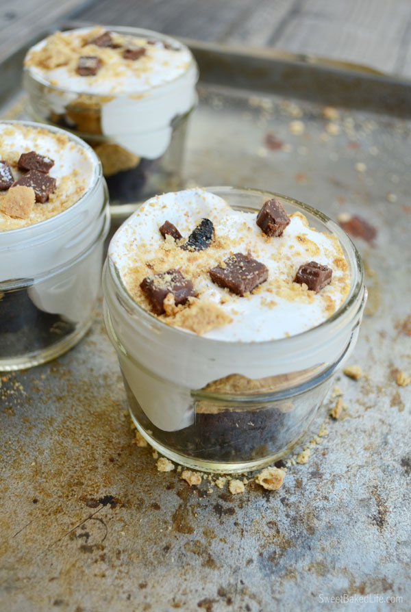 Brownie S'mores } Single serving and so easy to make   Sweet Baked Life